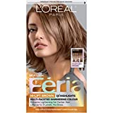 L'Oréal Paris Préférence Féria B61 - hair colors (Brown, B61, Downtown Brown, SHIMMERING CONDITIONING PERMANENT COLOUR GEL:, Allergy Testing: It's essential to perform a skin allergy test 48 hours before you color your hair.)