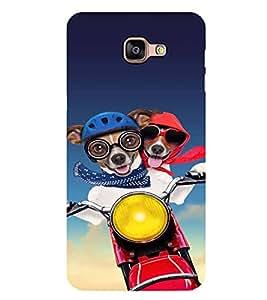 PrintVisa Designer Back Case Cover for Samsung Galaxy A9 (2016) :: Samsung Galaxy A9 Pro (2016) (Dog On the Bike Drive )