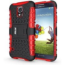 Funda Galaxy S5 , Funda S5 Neo, Fetrim Proteccion Cáscara Cases delgada de golpes Doble Capa de Tough Armor Anti-Shock de soporte de Protectora para Samsung Galaxy S5/S5 Neo (rojo)