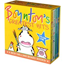 Boynton's Greatest Hits: Volume 1/Blue Hat, Green Hat; A to Z; Moo, Baa, La La La!; Doggies (Boynton Board Books)