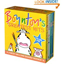 Boynton's Greatest Hits Volume 1: Blue Hat, Green Hat; A to Z; Moo, Baa, La La La!; Doggies (Boynton Board Books)