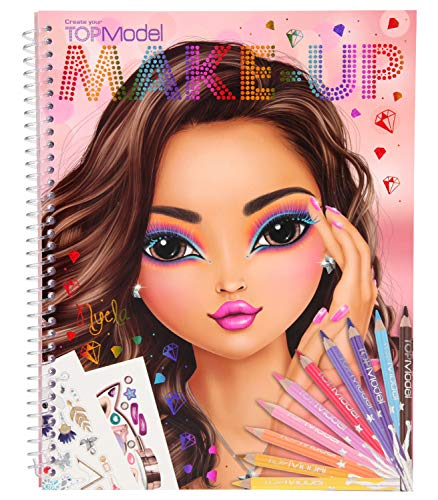 Depesche 10728 - Libro da colorare, TOPModel Create Your Make Up, ca. 24 x 19,5 x 1 cm