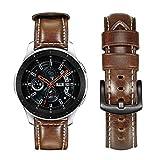 TRUMiRR Galaxy Watch 46mm Bracelet de Montre, 22mm Bracelet en Cuir Cire d'huile...