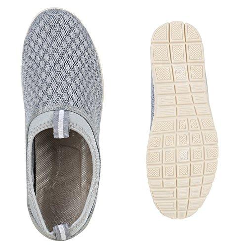 Herren Slipper Sportliche Hausschuhe Freizeit Schuhe Profilsohle Grau
