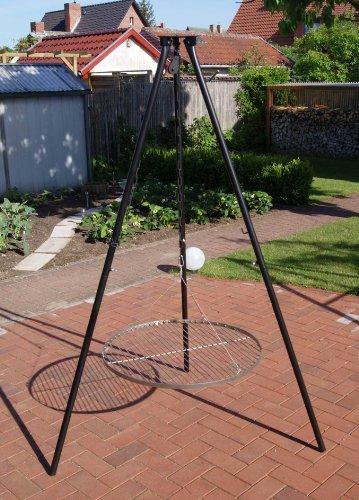 Massives 180 cm Stahl Dreibein + Kettenzug