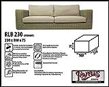 RLB230straight Wetterschutz für Rattan Lounge Bank, Gartensofa oder Lounge Sofa, 3 Sitzer, passt am besten am Sofa von max. 230 x 95 cm. Schutzhüllen für Bank, Schutzhülle für Lounge Bänke, Abdeckhaube Schutzhülle Schutz-Plane für gartenbank gartensofa