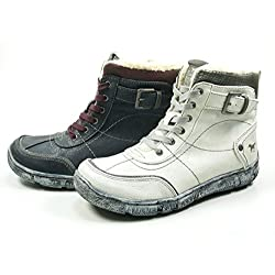 Mustang 1110-612 Womens Laced & Zip Biker Boots - 51fWPTcRyQL - Mustang 1110-612 Womens Laced & Zip Biker Boots
