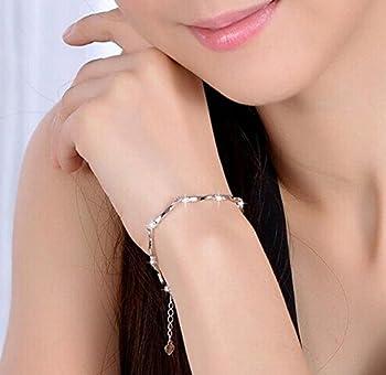 Cosanter Armband Armreif Armkette Kette Silber Charm Verstellbar Elegant Damen Armschmuck Damenkette 3