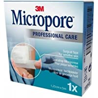 Preisvergleich für 3M Micropore Medizinisches Klebeband, hypoallergen, weiß, 1,25cm x 5m, 12Stück