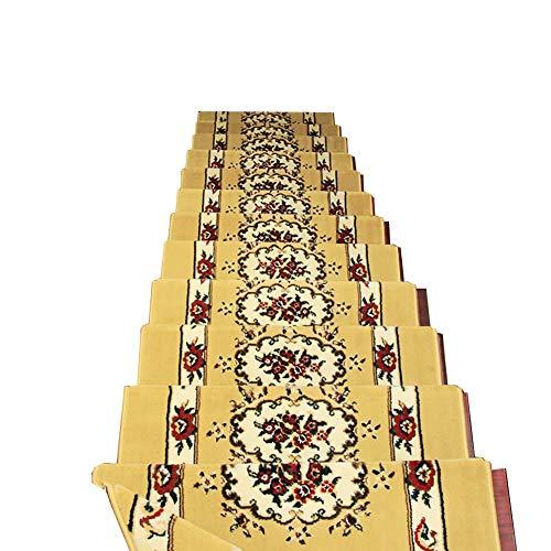 Anti-Rutsch Teppich Trittstufen, Treppen Square Teppiche Für Rutschfeste Sicherheit, Selbstansaugende Matten für Innen (Farbe : Set of 13, größe : 90x24+3cm)