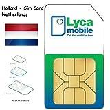 Lycamobile Lyca mobile Prepaid Niederlande Holland 3 in 1 Sim Karte 4G LTE EU Roaming