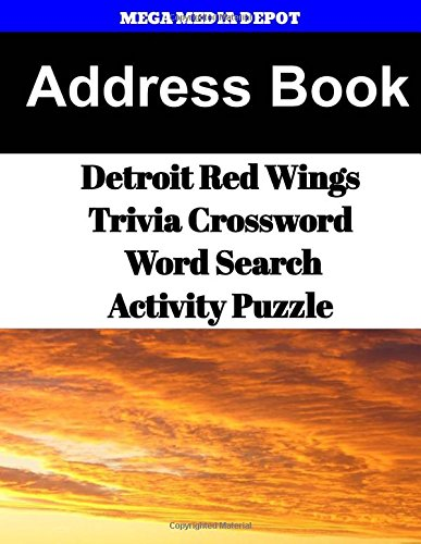 Address Book Detroit Red Wings Trivia Crossword & WordSearch Activity Puzzle por Mega Media Depot