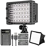 #4: Neewer CN-160 LED Digital Camera Video Lighting Kit- Dimmable LED Video Light, Diffuser, Rechargeable Battery with Micro USB Battery Charger for Canon Nikon and Others DSLR Cameras and Camcorders