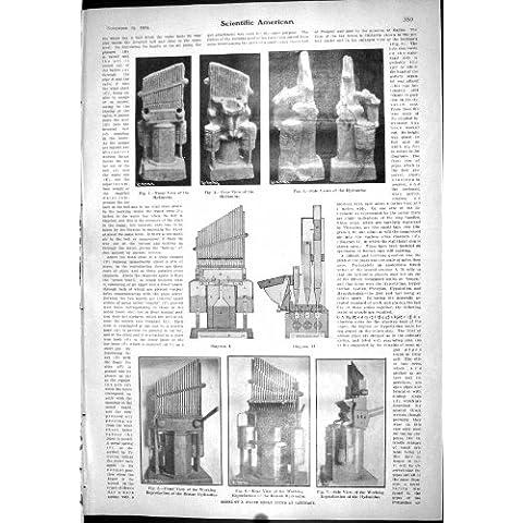 Viti Di Modello del Pomodoro di Cartagine Hydraulus dell'Organo dell'Acqua dell'Americano 1904 Scientifici