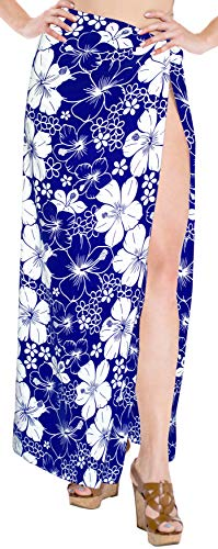 Zu Bademode Coverup Frauen Sarong Badebekleidung Rock Baden Verpackung Pareo blau