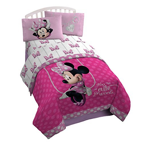Faux Twin-set (Disney Minnie Mouse Bowtique Faux Fun 39 x 75 Twin Sheet Set by Disney)
