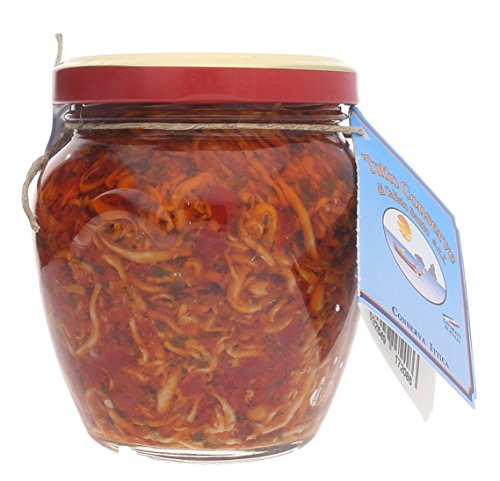 Capriccio di pesce marinato piccante senza conservanti senza coloranti prodotti tipici calabresi 190 gr.