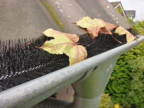 1,2m Regenrinne Abdeckung Laubschutz Blätter Schutz Marder Rinnenigel Dachrinne Bürste Ø12 cm 3,49€/m