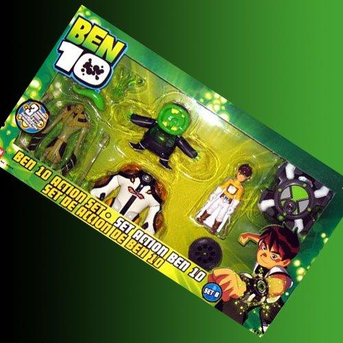 Figurine Ben 10 4 Coffret cadeau W/Cannonbolt et Montre Omnitrix