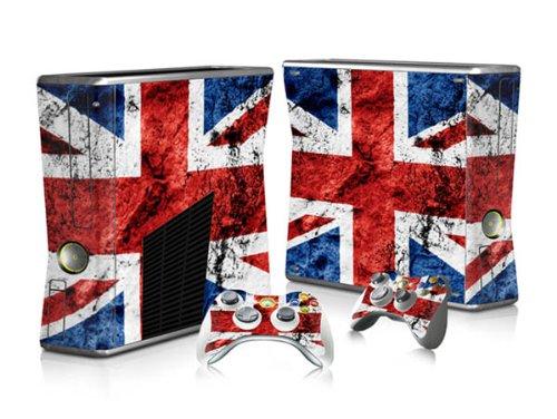 XBOX 360 Slim Skin Design Foils Aufkleber Schutzfolie Set - Union Jack Motiv