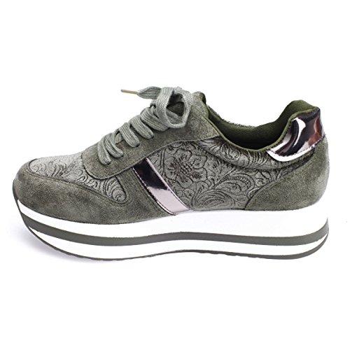 Verdi E materiali Modeuse velluto Camoscio Sneakers Le Bi aCSxqU4