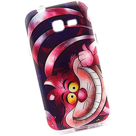 Cuitan Durable TPU Suave Funda Case para Samsung Galaxy Trend Lite S7392 S7390, Calidad premium Anti-rasguños Back Cover Moda Protector Case Cover Carcasa Funda Caso para Samsung Galaxy Trend Lite S7392 S7390 - Gato