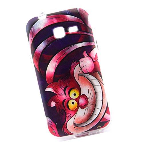 Cuitan Durevole TPU Morbido Case Custodia per Samsung Galaxy Trend Lite S7392 S7390, Qualità Premium Antigraffio Copertura Posteriore Back Cover Moda Protettivo Custodia Case Caso Cassa per Samsung Galaxy Trend Lite S7392 S7390 - Divertente Gatto