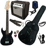 Pack Guitare Electrique 3/4 Noire Pour Enfant avec 7 Accessoires