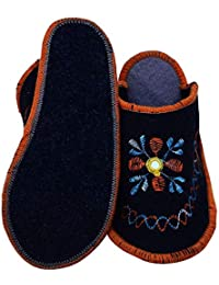 9131bd64808e Shree Shyam e Store Women Home Embroidery Indoor Warm Winter Flat Shoes  Slipper (Free