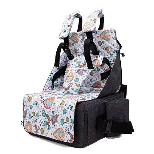 (SHINING KIDS Mamabeutel Portable Baby Esszimmerstuhl Tasche Klapp Lagerung Baby Out Rucksack Multifunktions Windel Tasche,Gray)