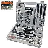 Kit de herramientas completo con 141 piezas en herramientas para una caja de herramientas ideal de bricolaje!