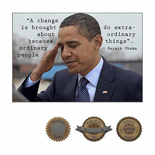 ArtDash Inspirierende Poster Print für Klassenzimmer, zu Hause, oder im Büro: Barack Obama 13