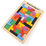 Tomtopp Wooden Tangram Brain Teaser Puzzle Toys Tetris Game Educational Kid Toy