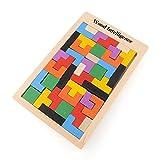 Sunsoar Puzzle Toys Wooden Tangram Brain Teaser Tetris Game Educational Kid Toy Birthday