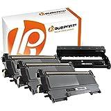 Bubprint 3x Toner kompatibel für TN-2220 TN2220 TN 2220 XXL TN-2010 TN2010 TN 2010 (2.600 S) & Trommel DR-2200 DR2200 DR 2200 für Brother DCP-7065dn