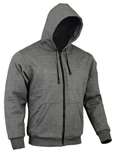 CE Armoured 100% Full Kevlar Ultimate Protection Grey Hoodie Jacket Hoody Fleece (Med = 40