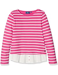 TOM TAILOR Kids Striped Sweat with Fabric Mix, Sudadera para Niñas
