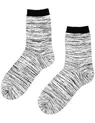 Color:Blanc Bleu fonc/é,Size:Une Taille LIUYUNE,3 Paires de Mollet Basketball Classique pour lentra/înement de Boxe Classique antid/érapant Escalade Chaussettes Respirantes Confortables