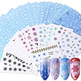 OYLXQ Nail Art Stickers Christmas Nail Stickers Nail Decals Snowflake Design Pack of