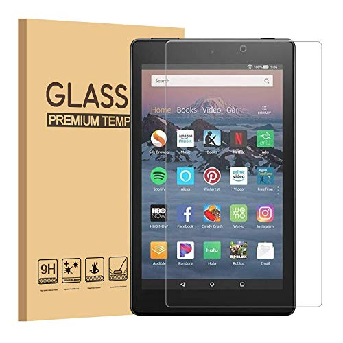 Bildschirmschutzfolie für Amazon Fire HD 10 Tablet 25,7 cm (7. Generation - 2017 Release) 9H Härte, HD klar [2.5D Ro& Edge] [Anti-Fingerprint] Panzerglas Folie