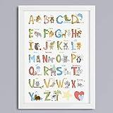ABC-Tier - Alphabet Kunstdruck ohne Rahmen
