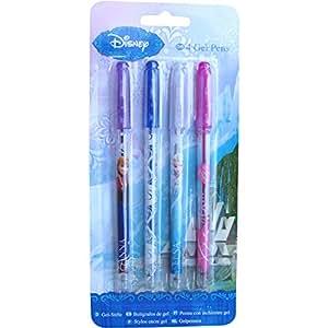 Fille Motif La Reine des neiges Lot de 4 stylos à encre Gel Écriture