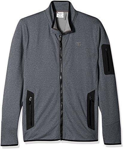 Champion Herren 4-Wege-Stretch-Jacke Active Knit Mock Neck Jacket - große Größen - grau - 4X-Groß Womens Knit Warm Up Jacket