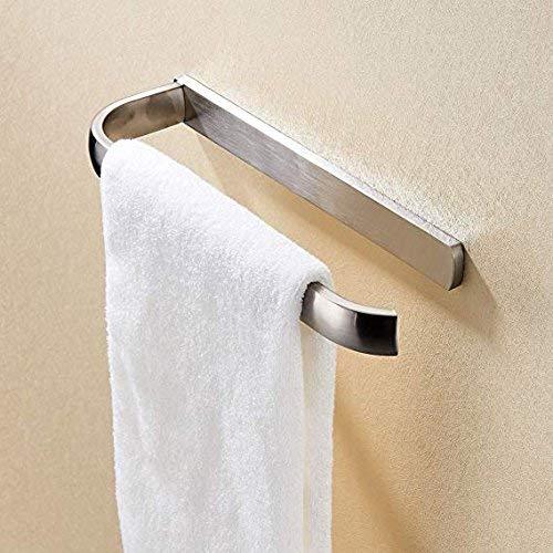 BigBig Home Handtuch Bars für Badezimmer Messing Gebürstet Nickel Zubehör Hardware, 58,4cm Moderner Stil Wandmontage Handtuchhalter Badezimmer Handtuch Bar Rack Modern Towel Ring -