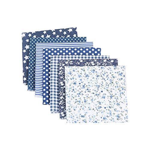 CULASIGN 7 Stück Stoffpakete DIY Kleine Blume Muster Baumwolltuch Patchwork Stoffe Paket Stoffset 50x50cm