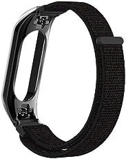 Big-Mountain 🎏🎏🎏Nylon Band Für Xiaomi Mi Band 3 Armband | Plating Metallkasten Abdeckung | Ersatz Armband Strap Uhr Ersatzarmband mit Doppelschnalle Sport Handschlaufe