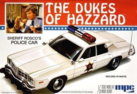 1/25 Roscoe's Dodge Monaco Police Car Model Building Kit by MPC