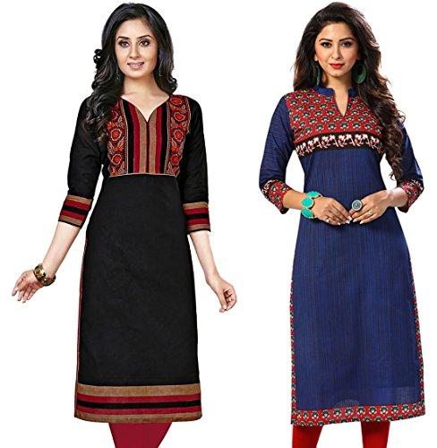 Jevi Prints Women's Cotton Dress Material (Kavya-1216-Saheli-1523_Free Size_Multi-Coloured)