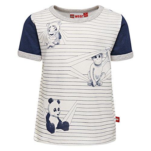 Lego Wear Baby-Jungen T-Shirt Duplo Boy Tyler 303, Weiß (Off White 102), 80 Gestreiftes Shirt Affe