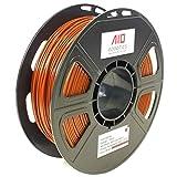 AIO Robotics AIOBROWN PLA 3D Printer Filament, 0.5 kg Spule, Durchmesser 1.75 mm, Braun